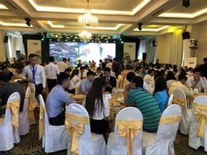 Đông đảo khách hàng tham dự lễ công bố căn hộ Bcons